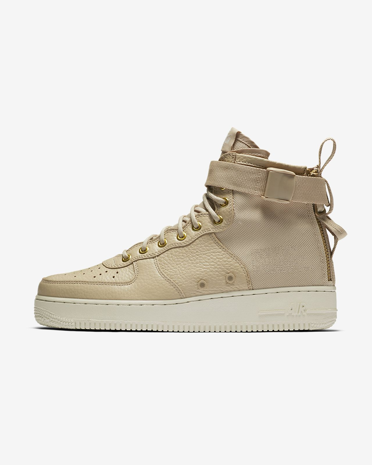 Nike Air Force 1 Mi Sac À Dos En Cuir Beige