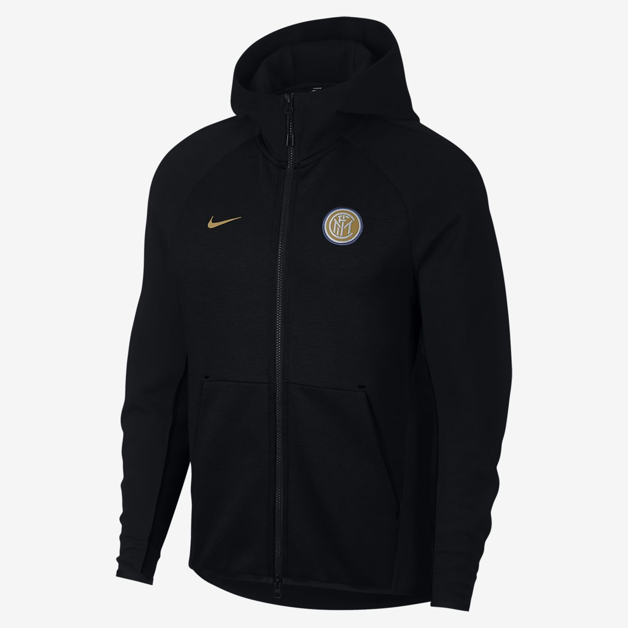 free shipping ff47d b6af2 ... Huvtröja med hel dragkedja Inter Milan Tech Fleece för män