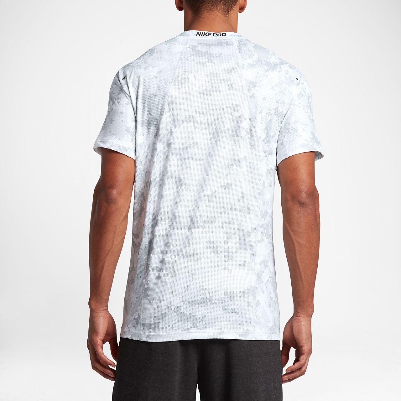 Nike Pro HyperCool Men's Short Sleeve Top White/Black