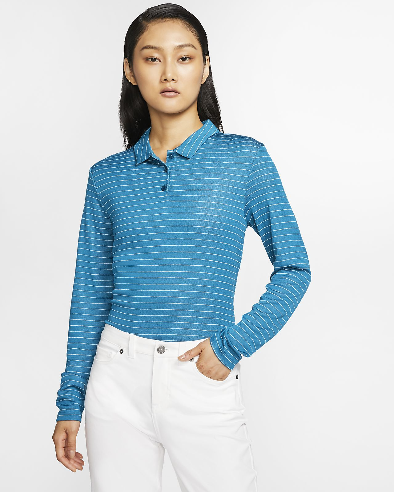 Nike Dri-FIT Women's Long-Sleeve Golf Polo