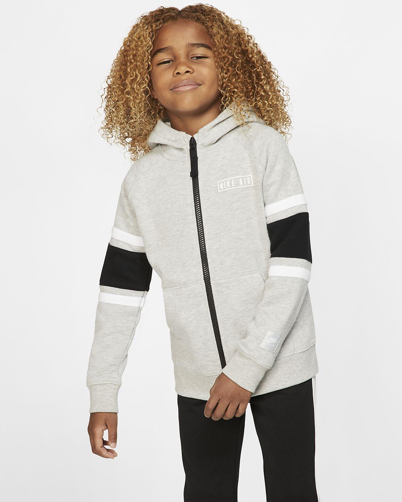 Nike Air Fleece-Hoodie mit durchgehendem Reißverschluss für jüngere Kinder