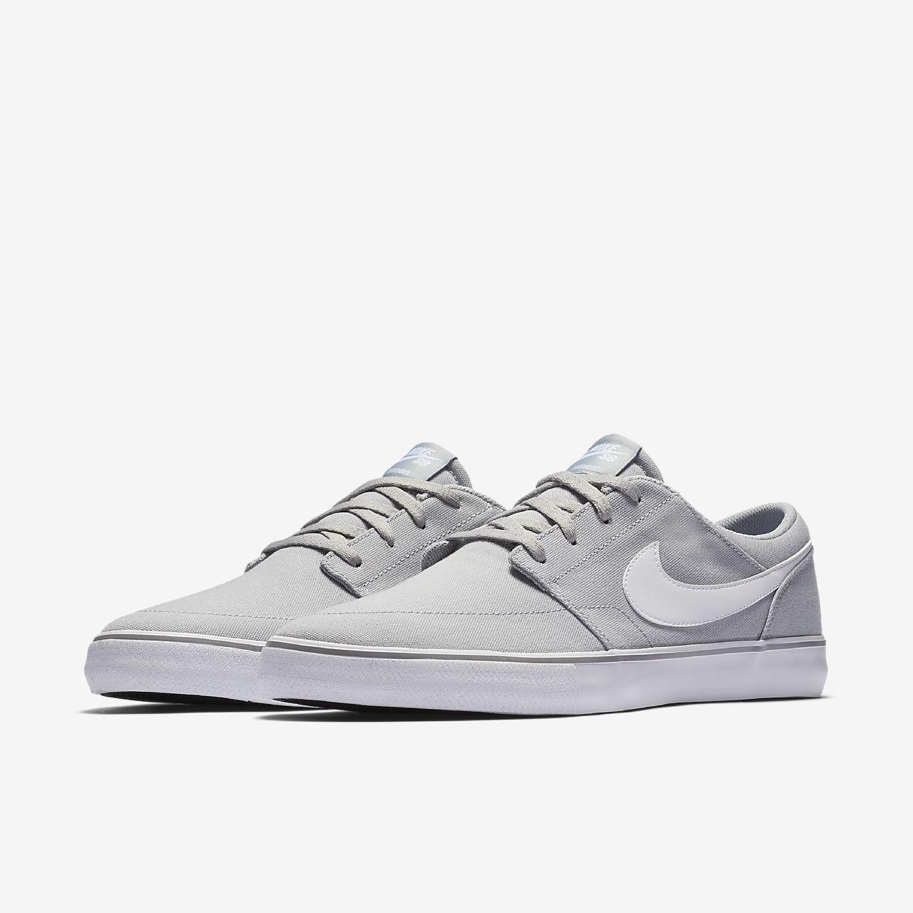 Nike SB Portmore II Mens Skateboarding Shoes Athletic Sneakers Canvas Blue White