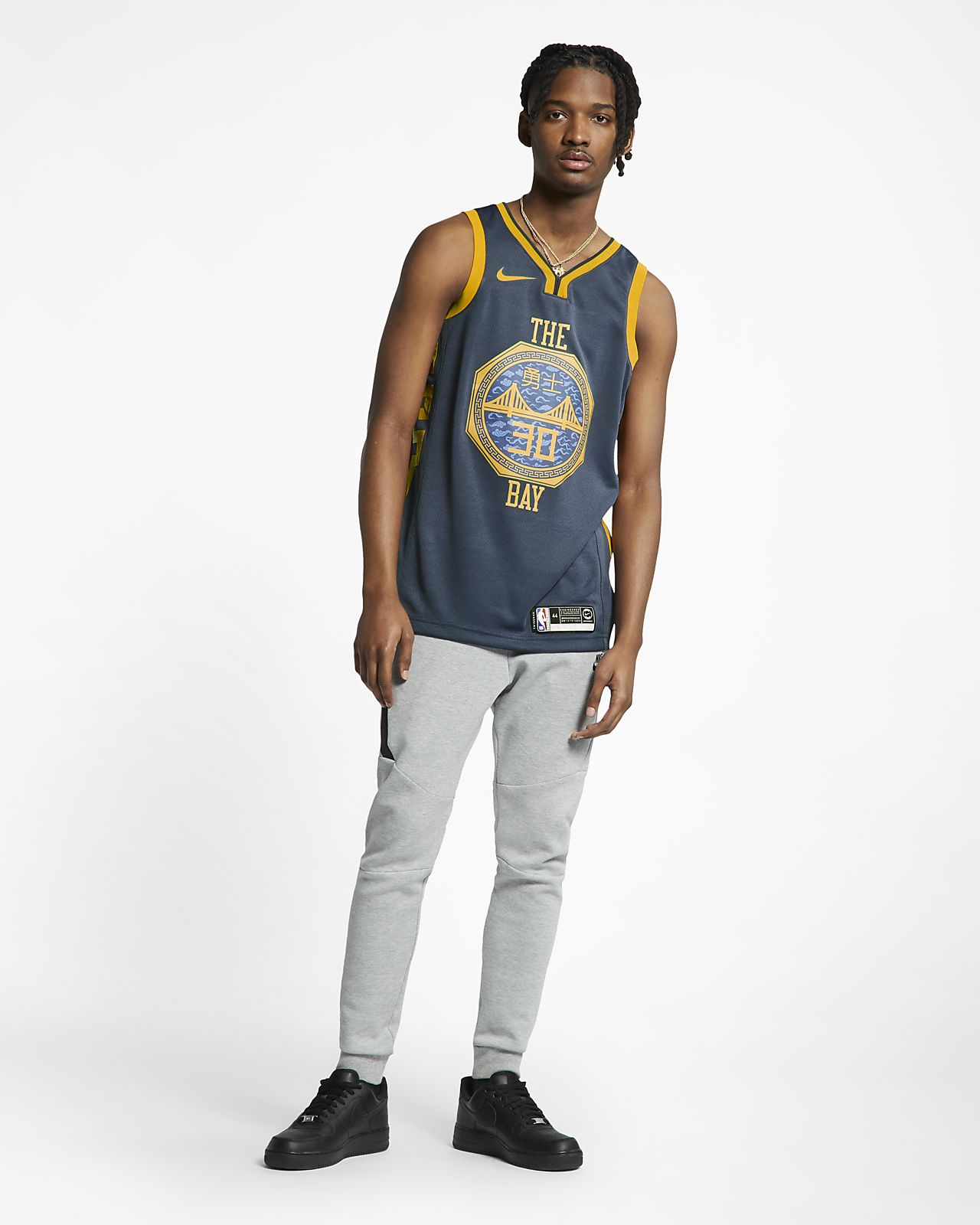 best sneakers ed0d4 230f7 Stephen Curry City Edition Swingman (Golden State Warriors) Men's Nike NBA  Connected Jersey