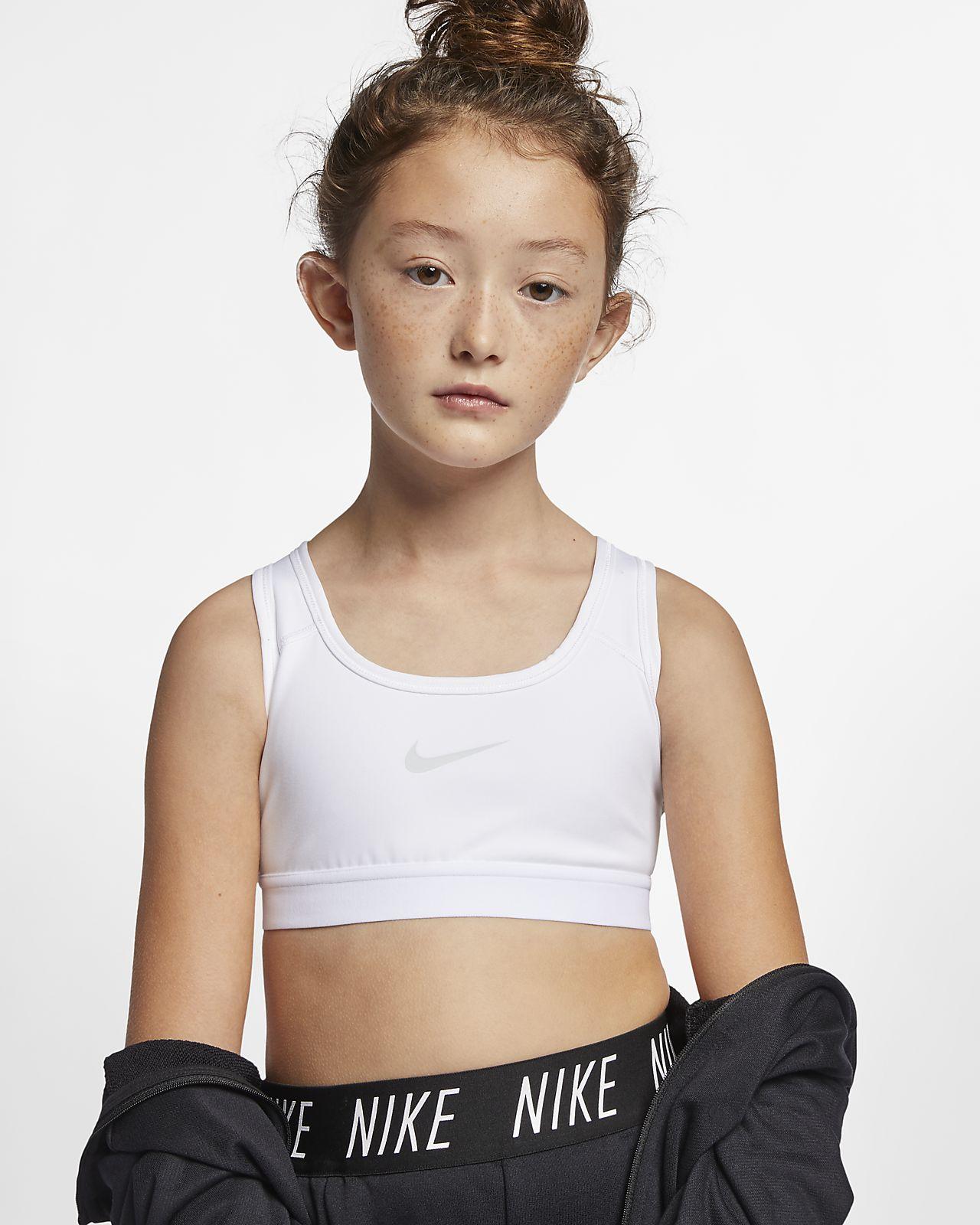 Спортивное бра для девочек школьного возраста Nike