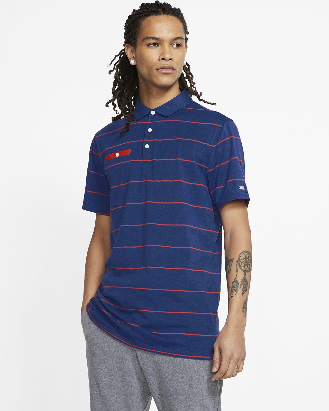 Nike Dri-FIT Player gestreiftes Herren-Golf-Poloshirt