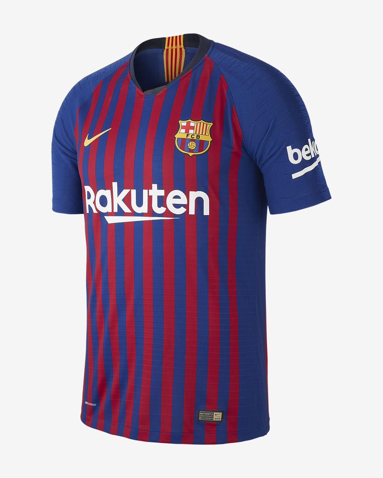 416b7df9c Camiseta de fútbol para hombre 2018 19 FC Barcelona Vapor Match Home ...