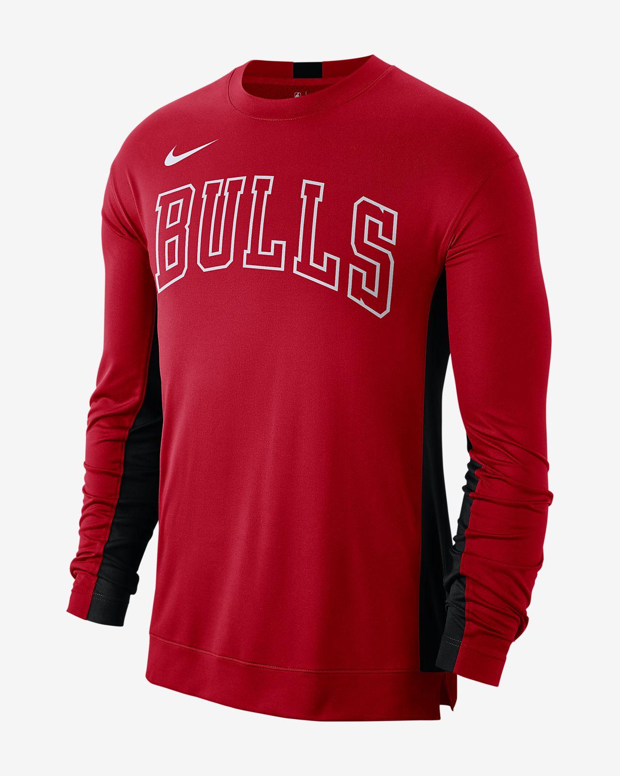 Chicago Bulls Nike Dri-FIT NBA-Shooting-Shirt für Herren
