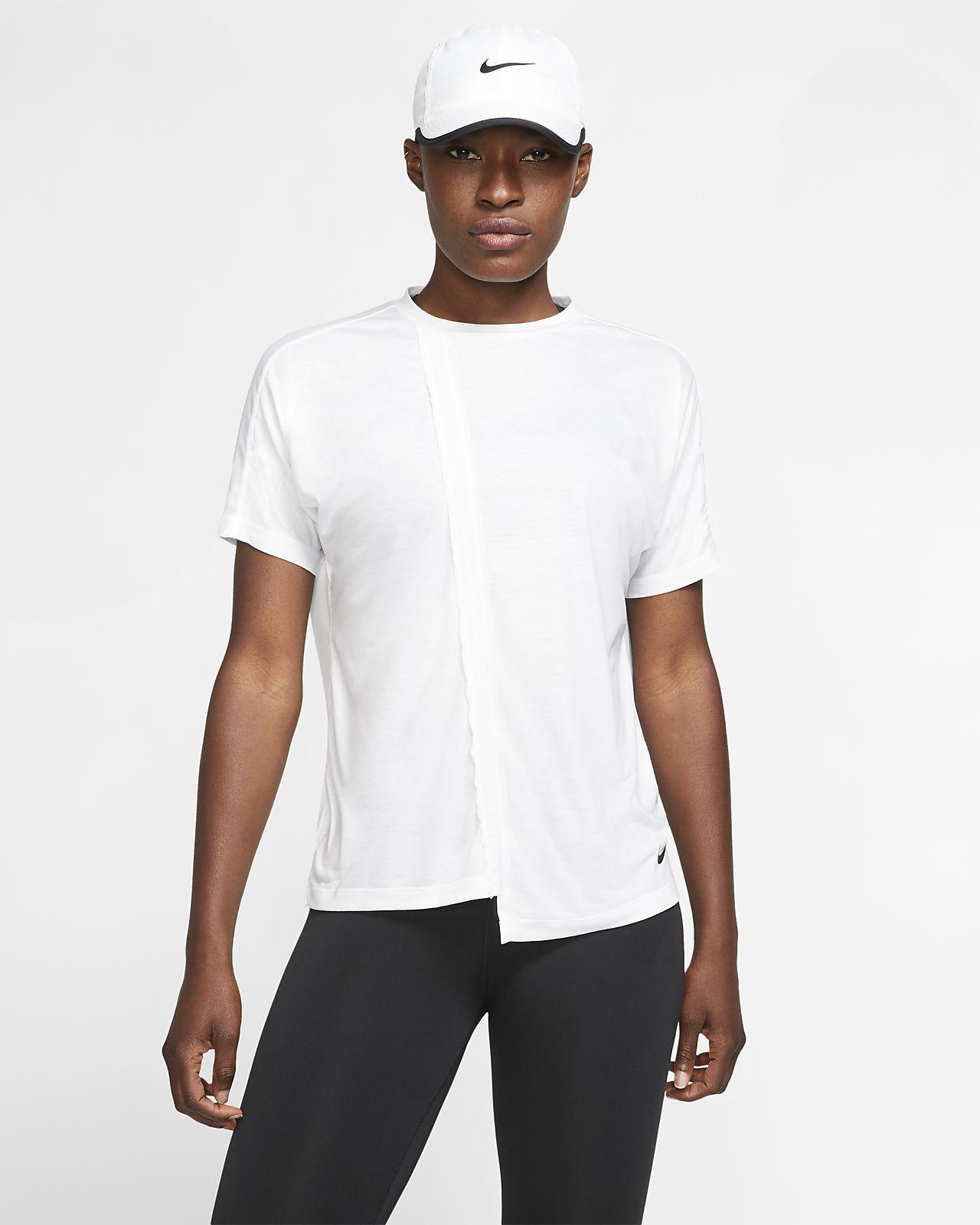 Prenda para la parte superior de running de manga corta para mujer Nike
