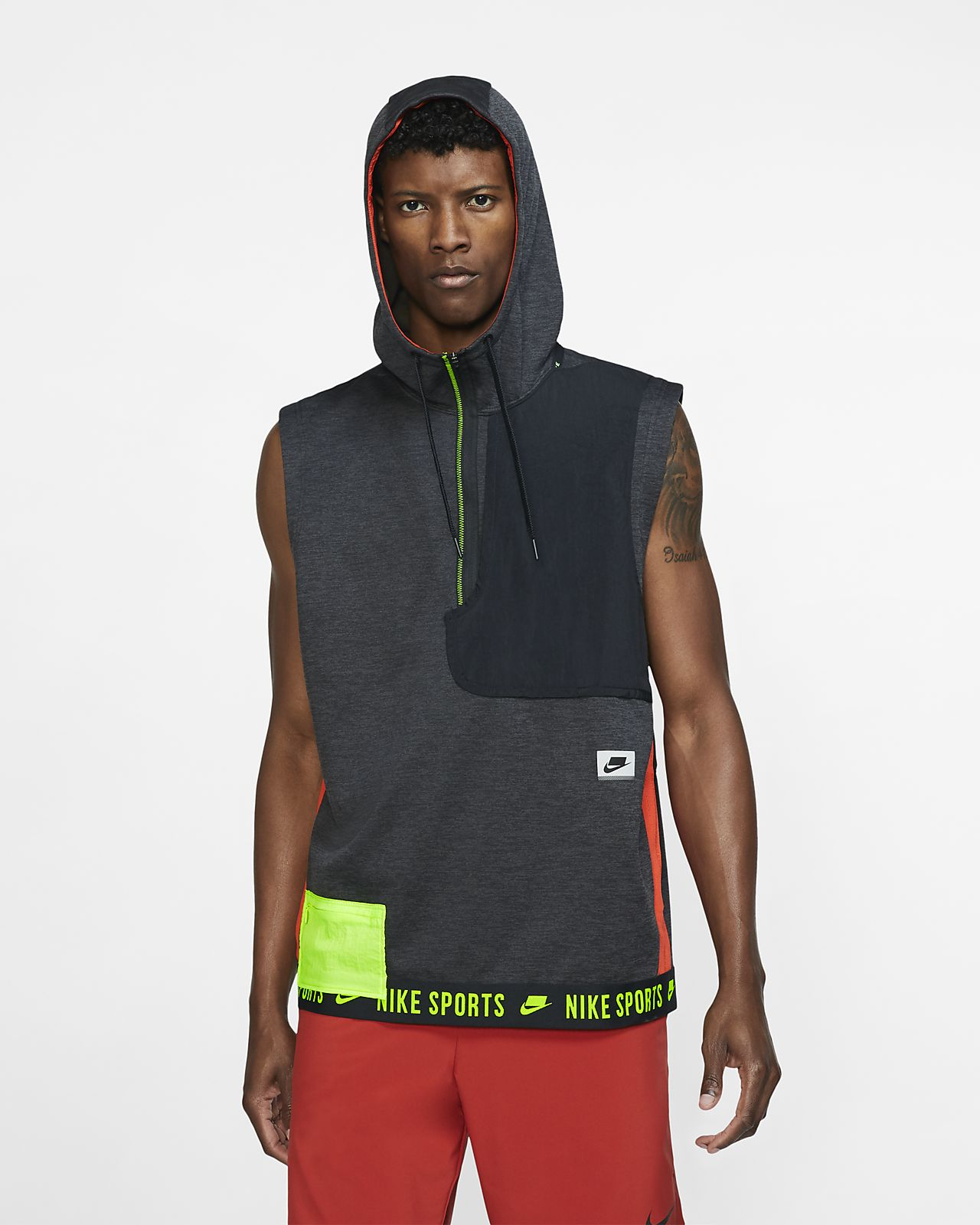 Nike Therma Sport Clash Men's Sleeveless Hooded Training Top