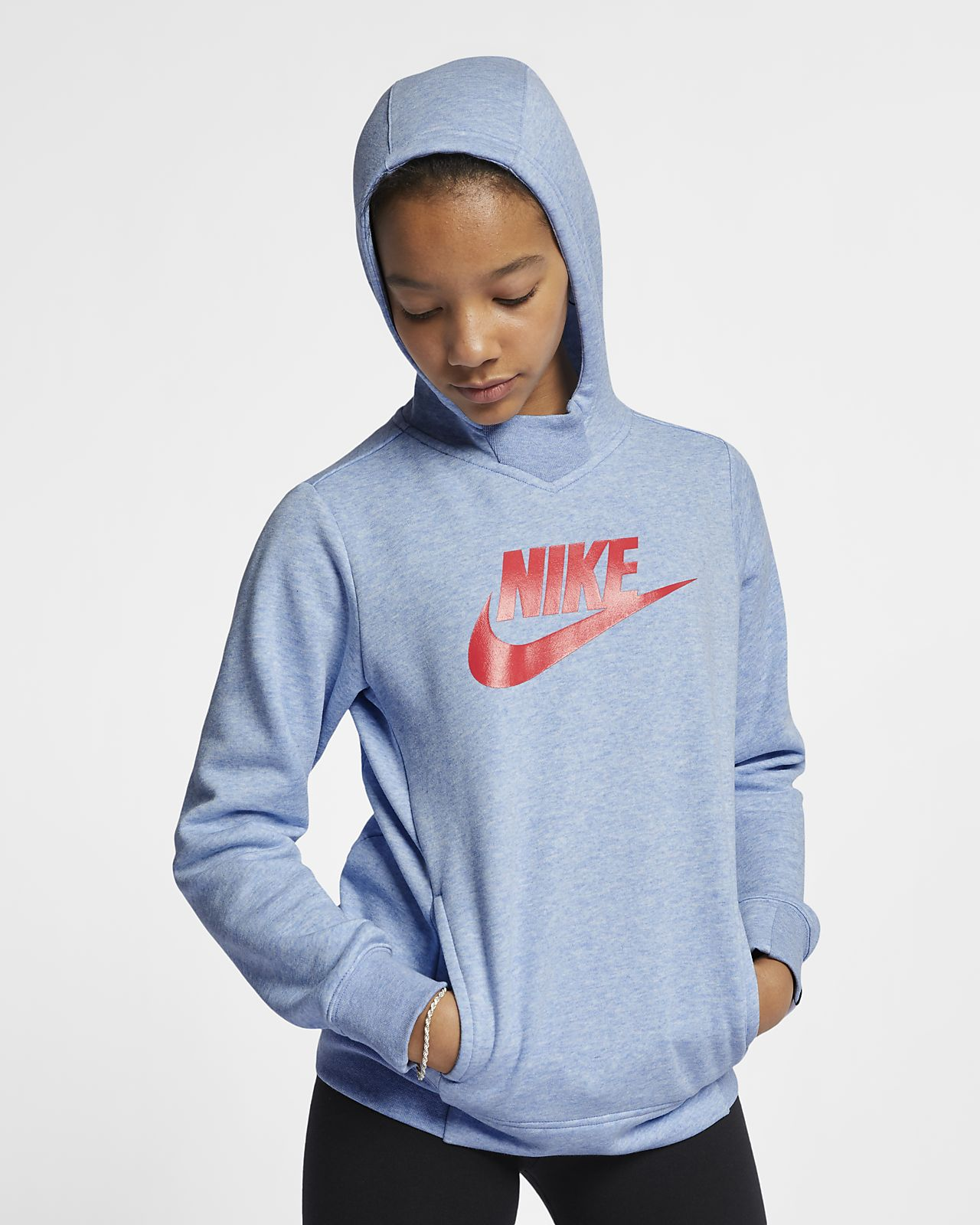 Sweat À Nike Capuche Motif Pour Âgée Plus Fille Sportswear qaqRpxwTr