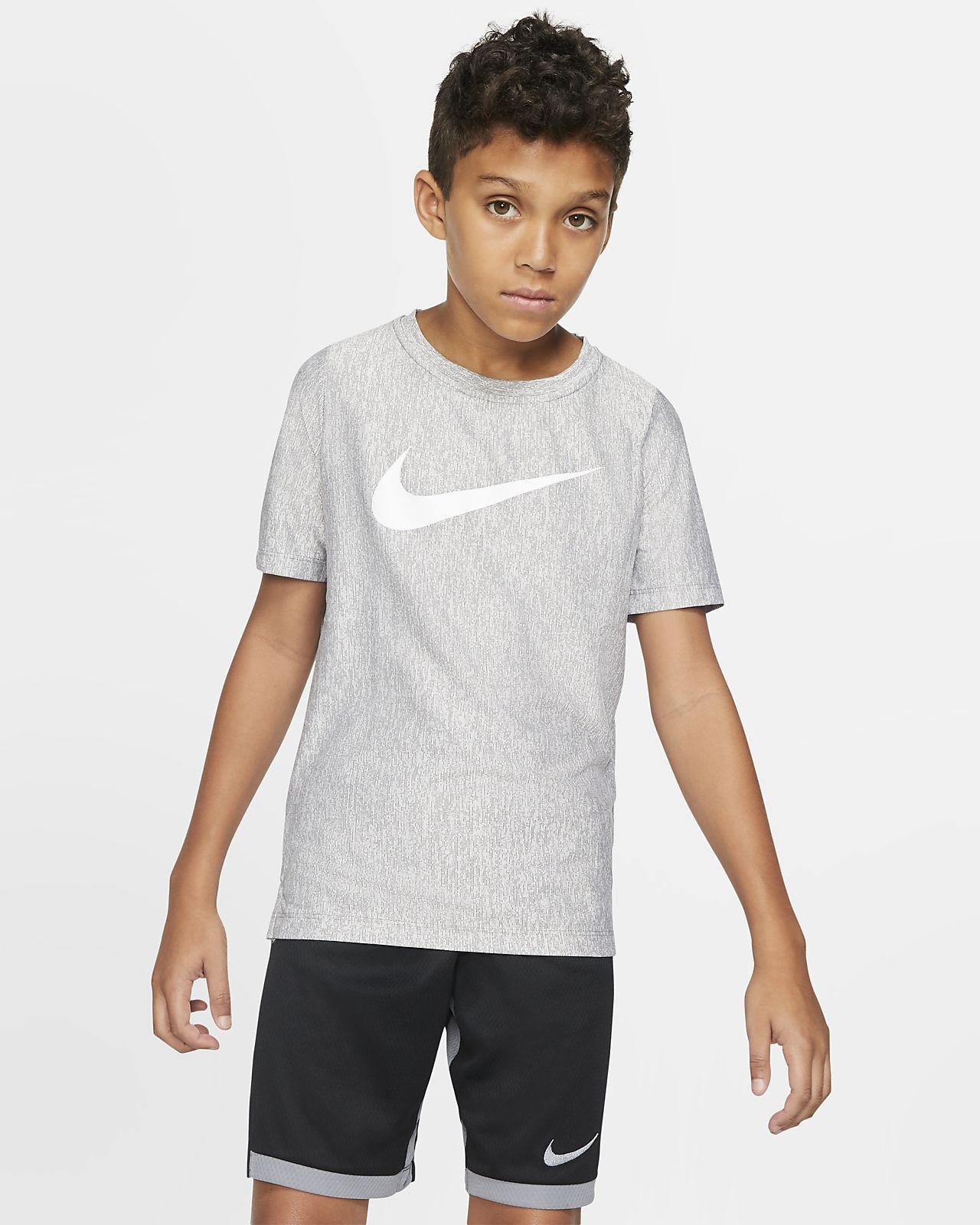 เสื้อเทรนนิ่งแขนสั้นเด็กชาย Nike Dri-FIT