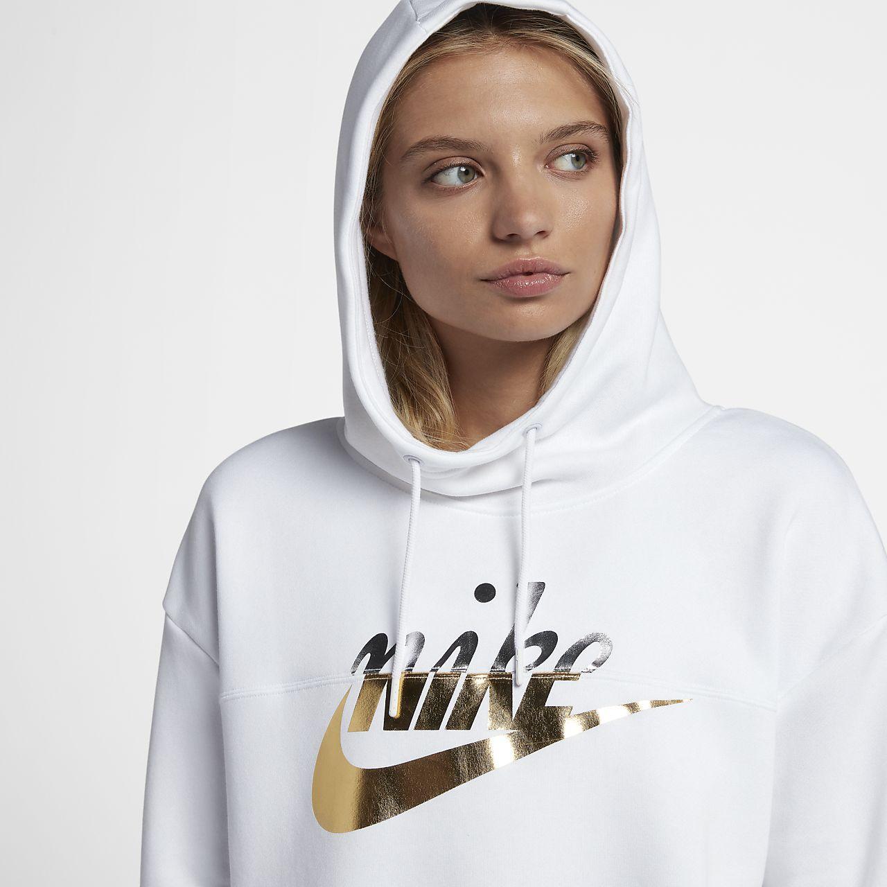 9eb4068a7c8b Nike Sportswear Rally Women s Metallic Pullover Hoodie. Nike.com