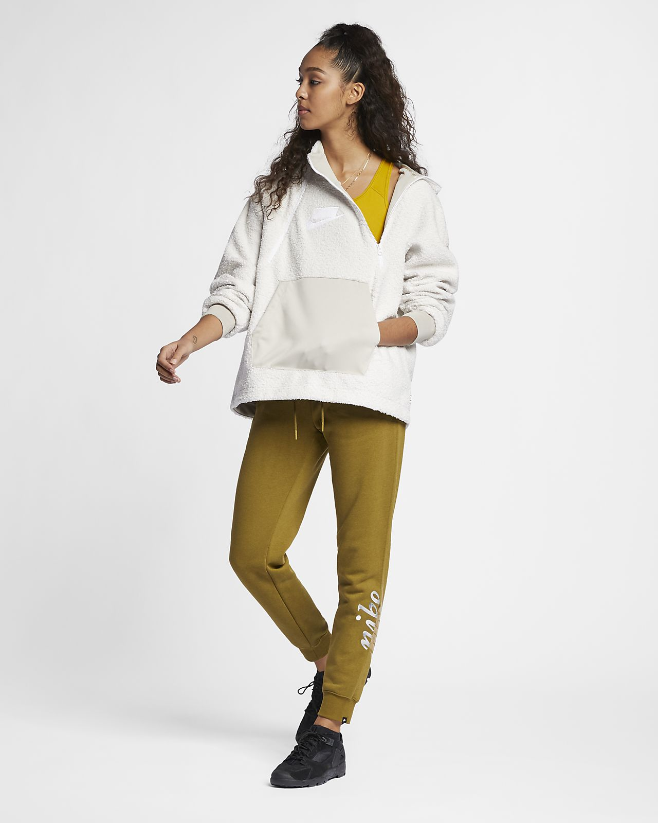 ... Sudadera con capucha sin cierre de tejido Sherpa para mujer Nike  Sportswear NSW a44e5acad2e8