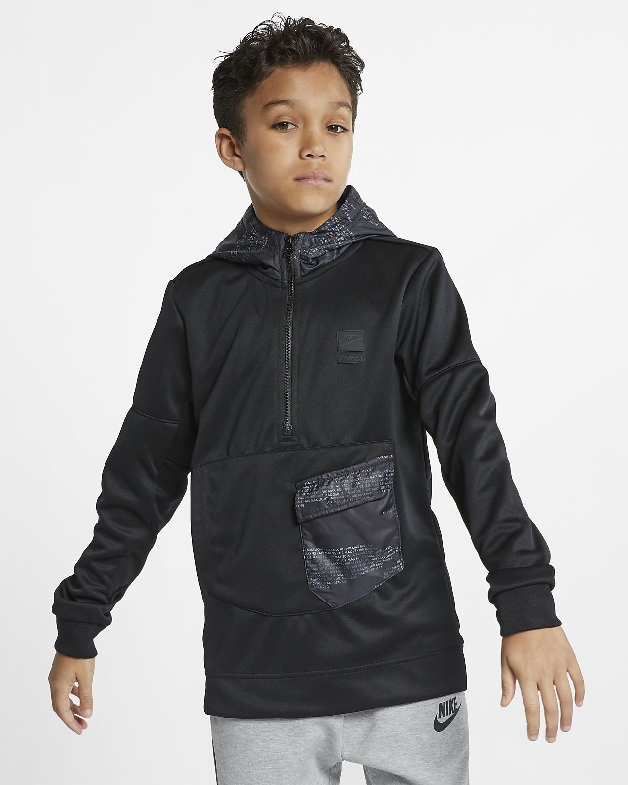 Nike Sportswear Older Kids' (Boys') 12 Zip Hoodie