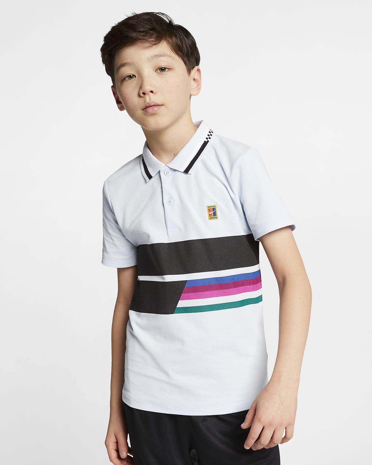 Koszulka polo do tenisa dla dużych dzieci (chłopców) NikeCourt Advantage