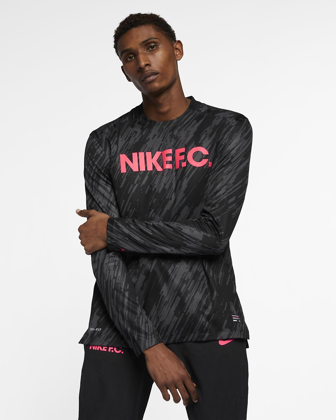 786d595093 Nike F.C. Long-Sleeve Football Shirt. Nike.com GB