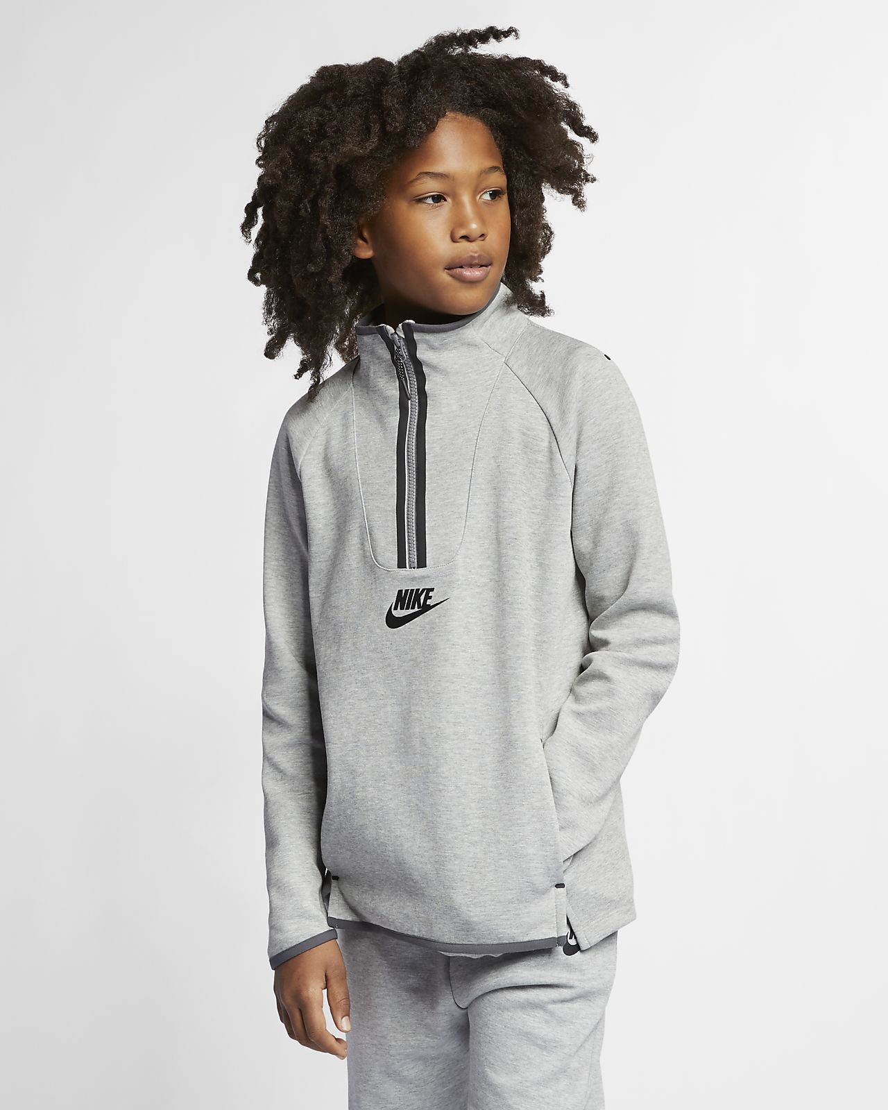 Prenda para la parte superior de manga larga para niños Nike Sportswear Tech Fleece