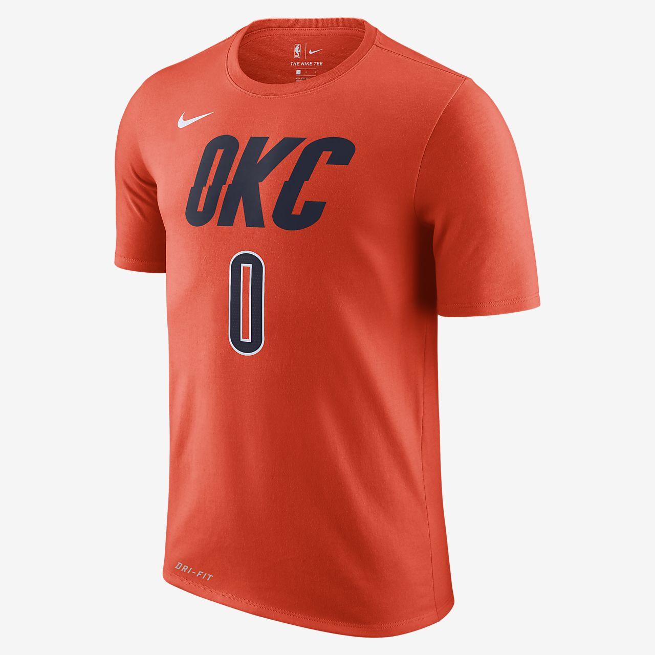 俄克拉荷马城雷霆队 (Russell Westbrook) City Edition Nike Dri-FIT 男子 NBA T恤