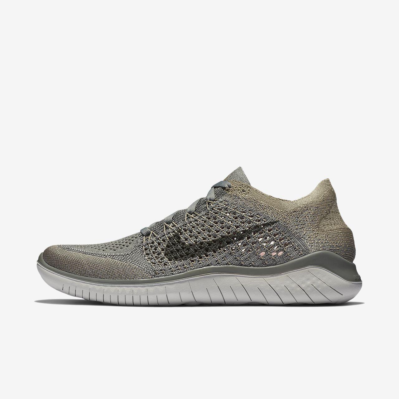 Nike - Free RN Flyknit 2 (GS) Enfants chaussure de course (noir/gris) - EU 38,5 - US 6