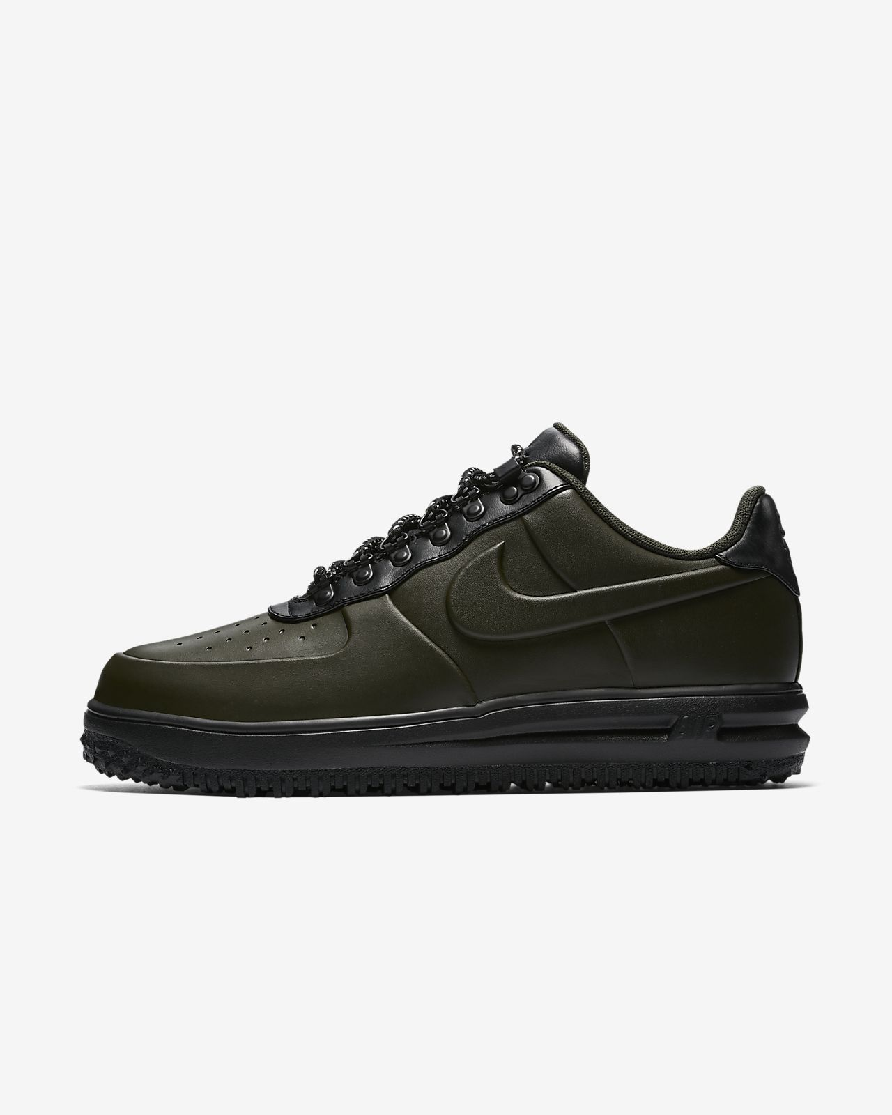Scarpe uomo NIKE Lunar Force 1 Duckboot Low Brown in pelle nera AA1125300