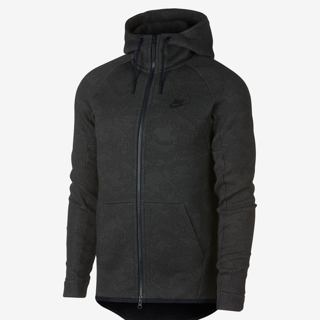 sweat capuche enti rement zipp nike sportswear tech fleece pour homme be. Black Bedroom Furniture Sets. Home Design Ideas