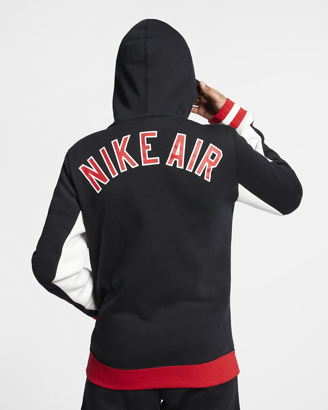 0eef4cf804 Nike Air hosszú cipzáras, kapucnis pulóver nagyobb gyerekeknek. Nike ...