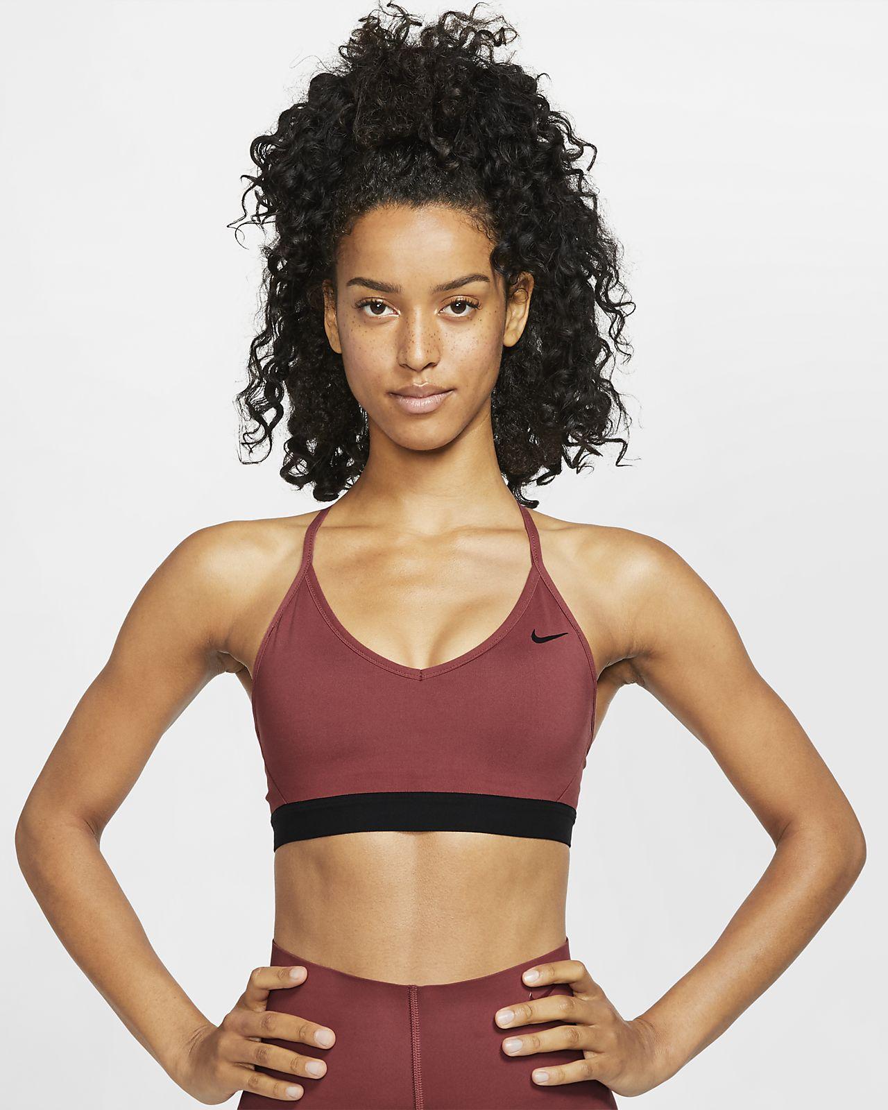 Sportovní podprsenka s lehkou oporou Nike Indy