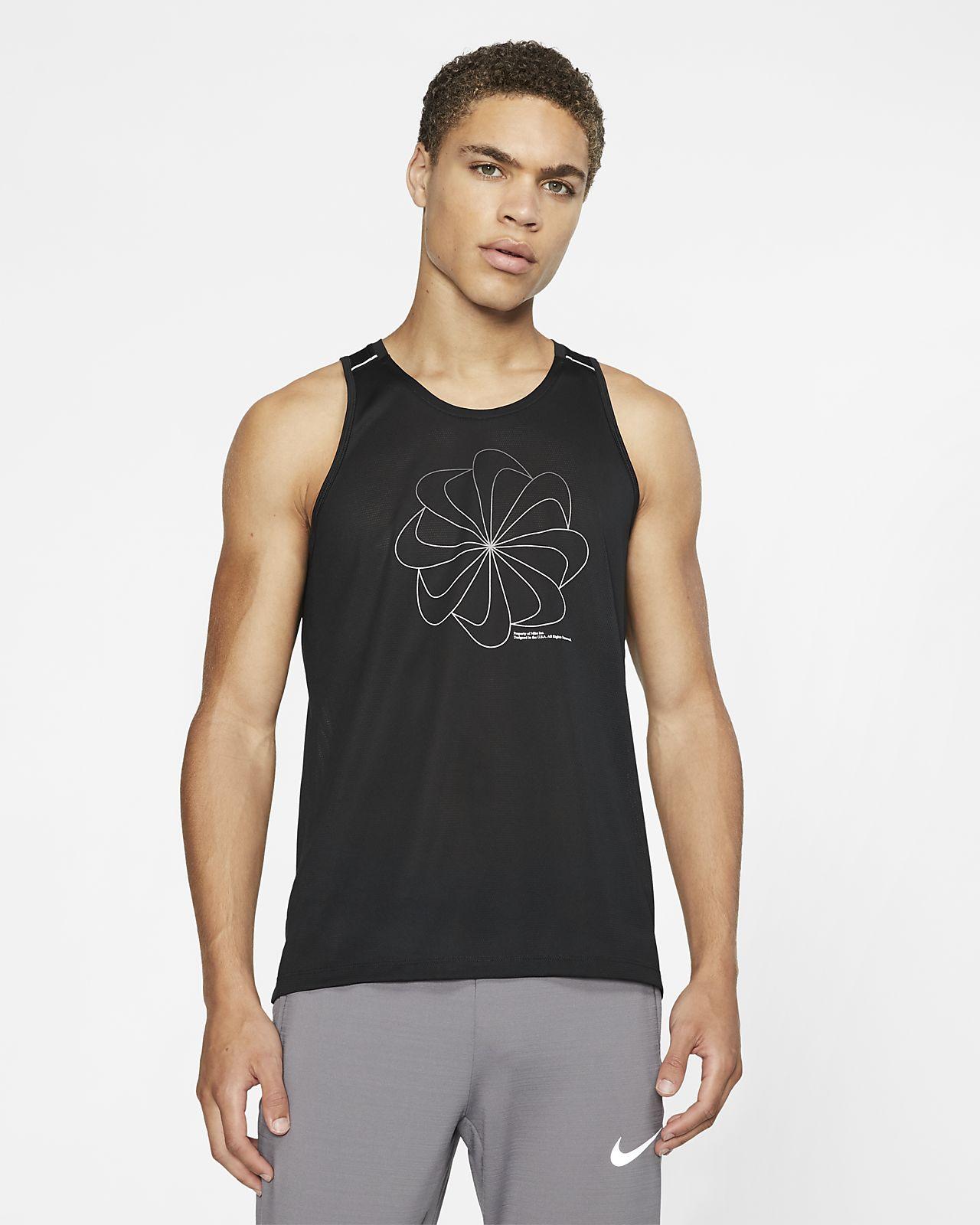 Nike Miler 男款圖案跑步背心