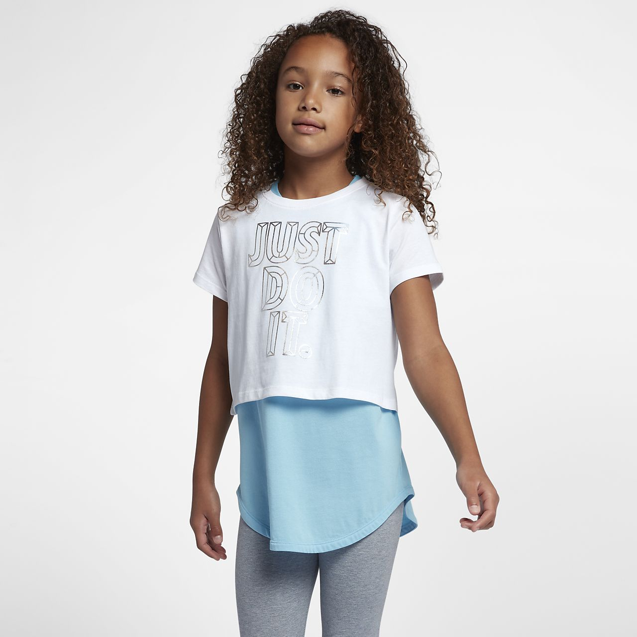 Nike Sportswear Older Kids' (Girls') JDI Cropped T-Shirt