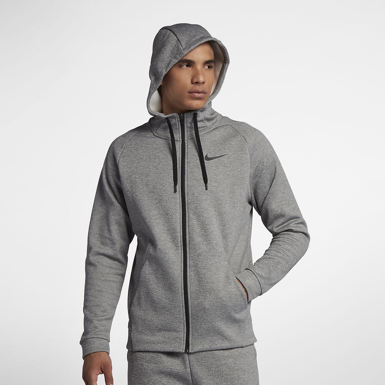 Nike Dri-FIT Therma Trainings-Hoodie mit durchgehendem Reißverschluss für Herren