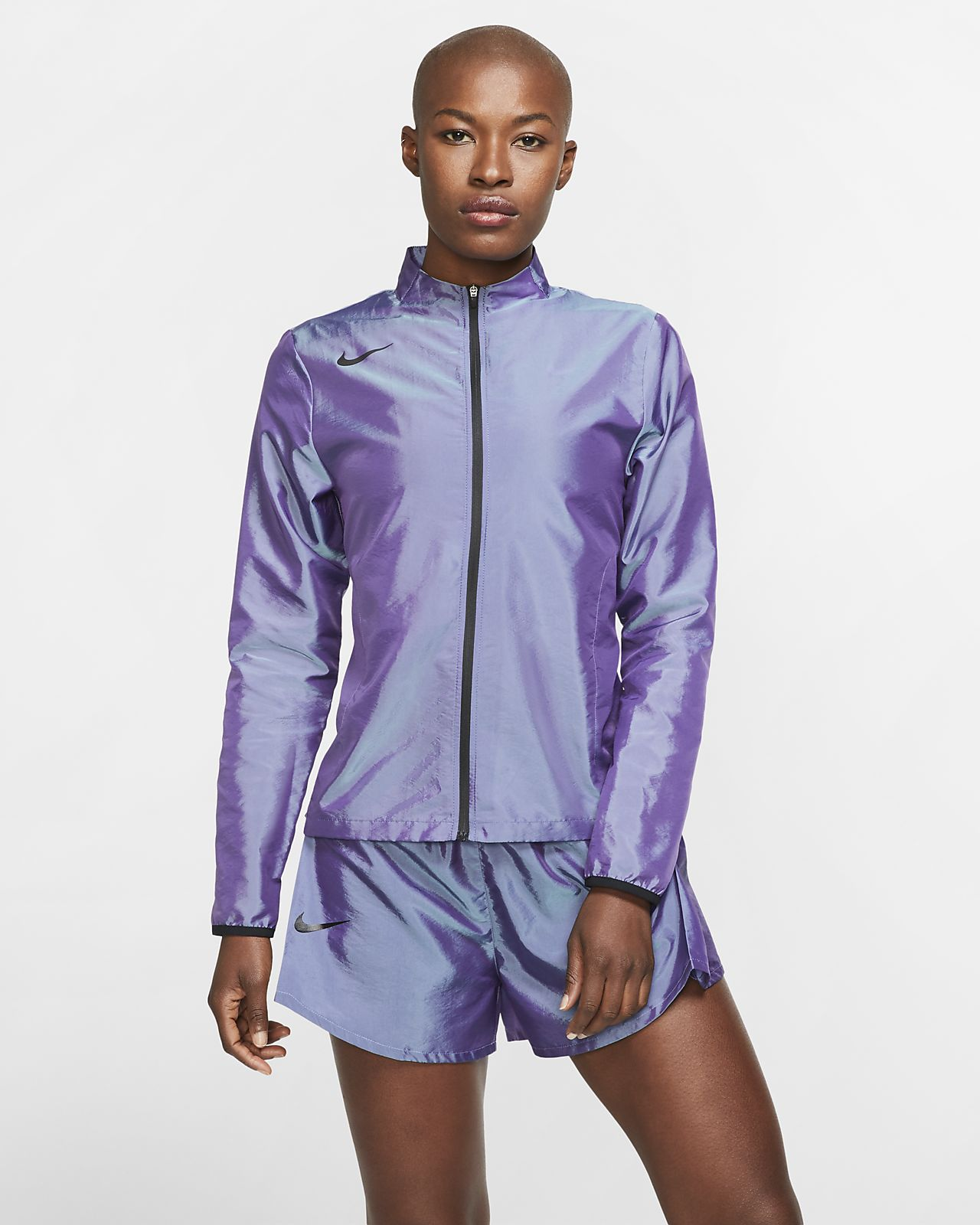 Женская беговая куртка с молнией во всю длину Nike