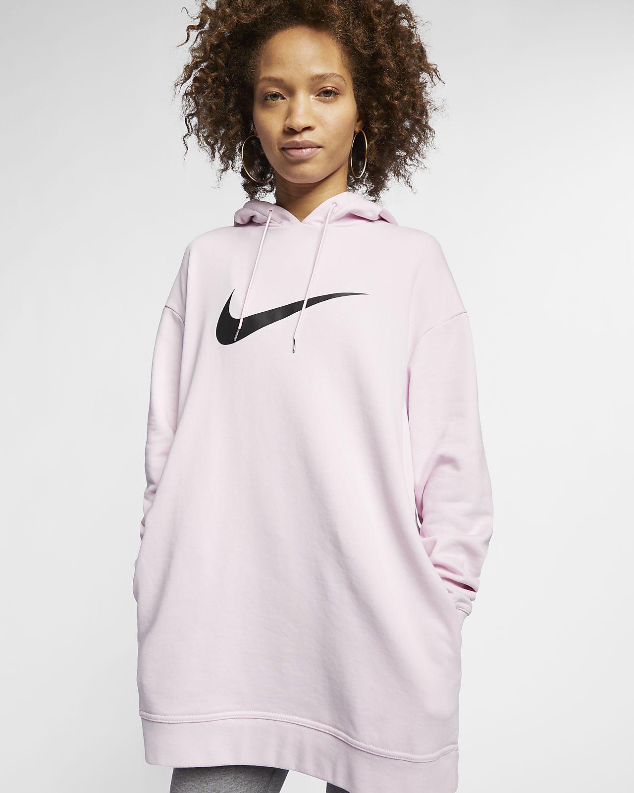 Felpa con cappuccio in French terry Nike Sportswear Swoosh - Donna