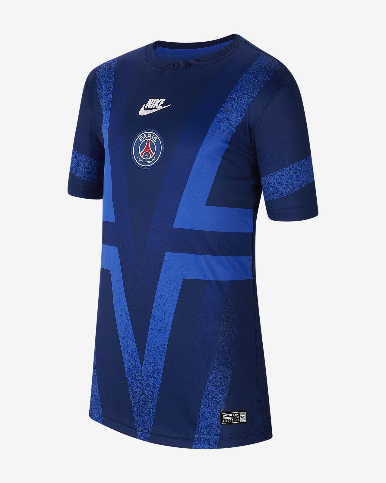 Haut de football à manches courtes Paris Saint-Germain pour Enfant plus âgé