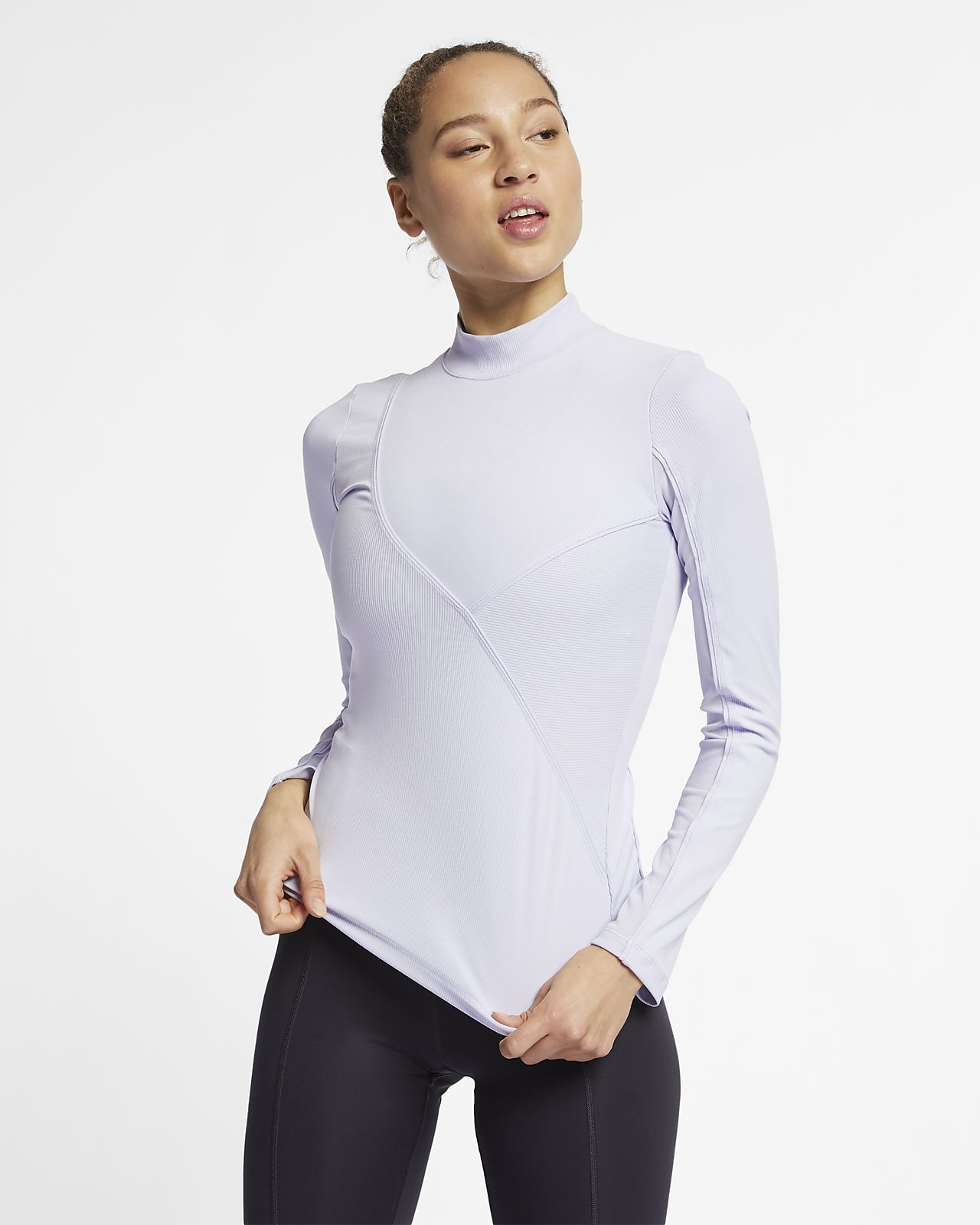 Nike Pro HyperCool Women's Ribbed Long-Sleeve Top