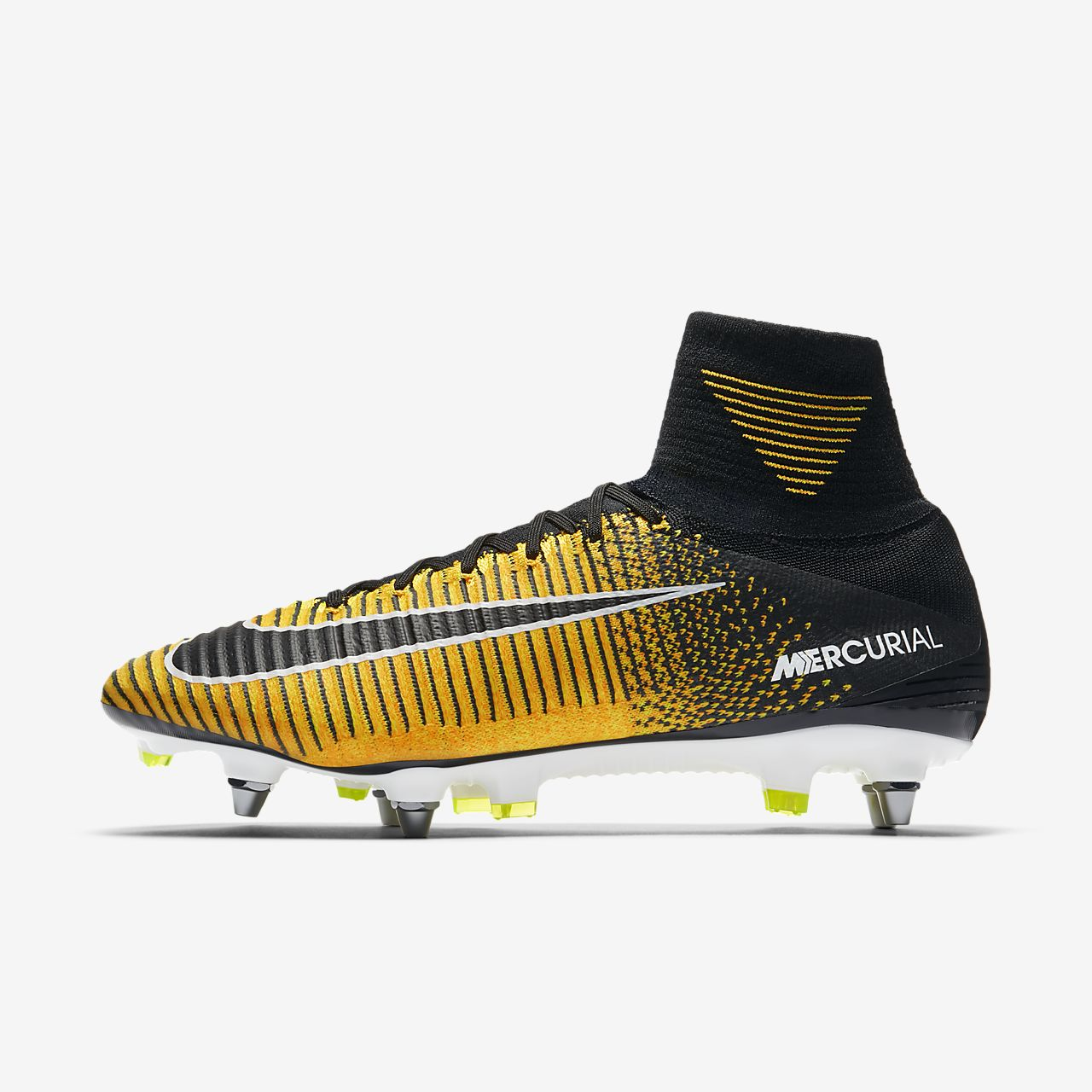Nike Mercurial Superfly V Dynamic Fit SG-PRO (831956-801) Womens Football Boots Black/White/Orange