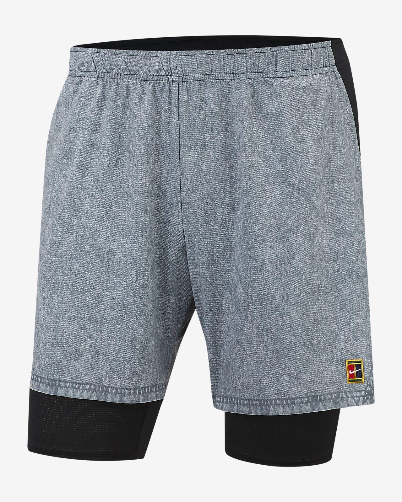 NikeCourt Flex Ace Tennisshorts met print voor heren
