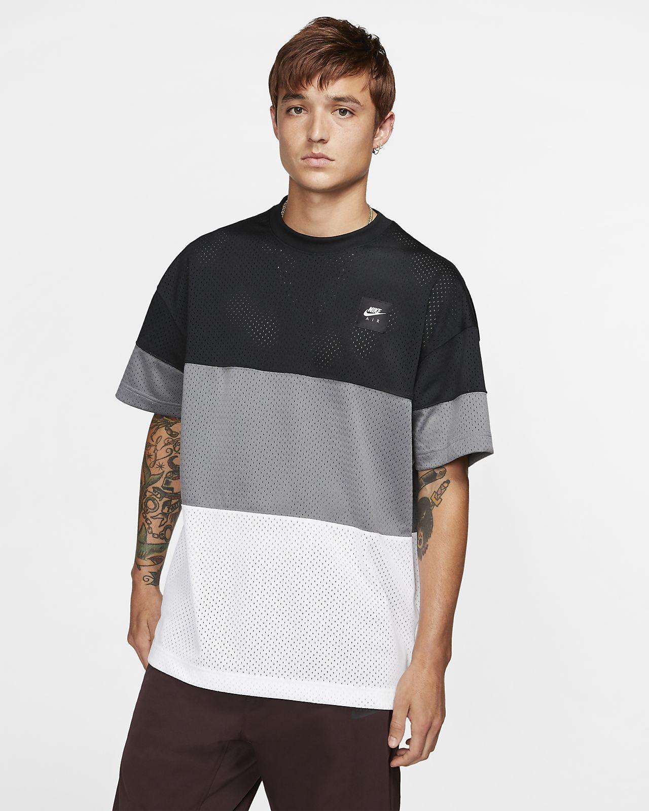 Kortärmad stickad tröja Nike Air för män