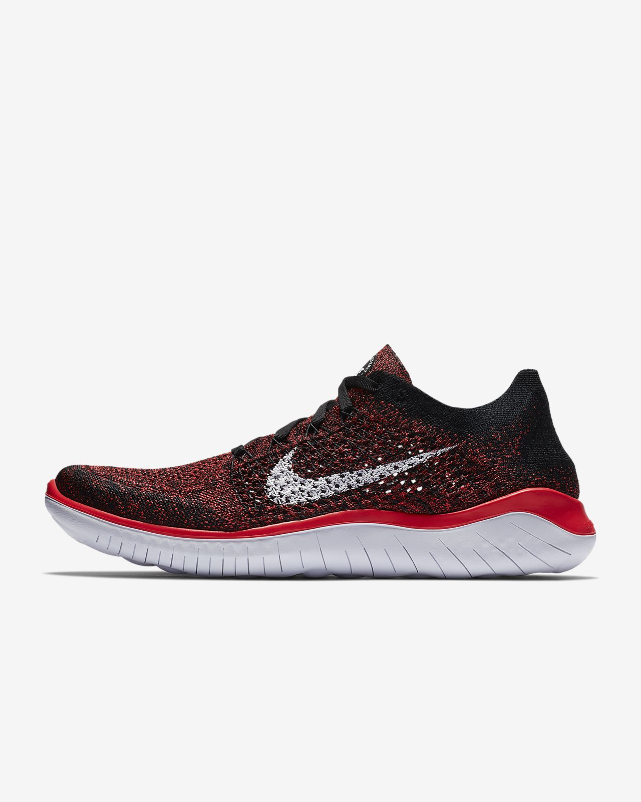 Nike Free RN 2018, Chaussures de Running Homme, Blanc (Blanc/Noir 100), 45.5 EU