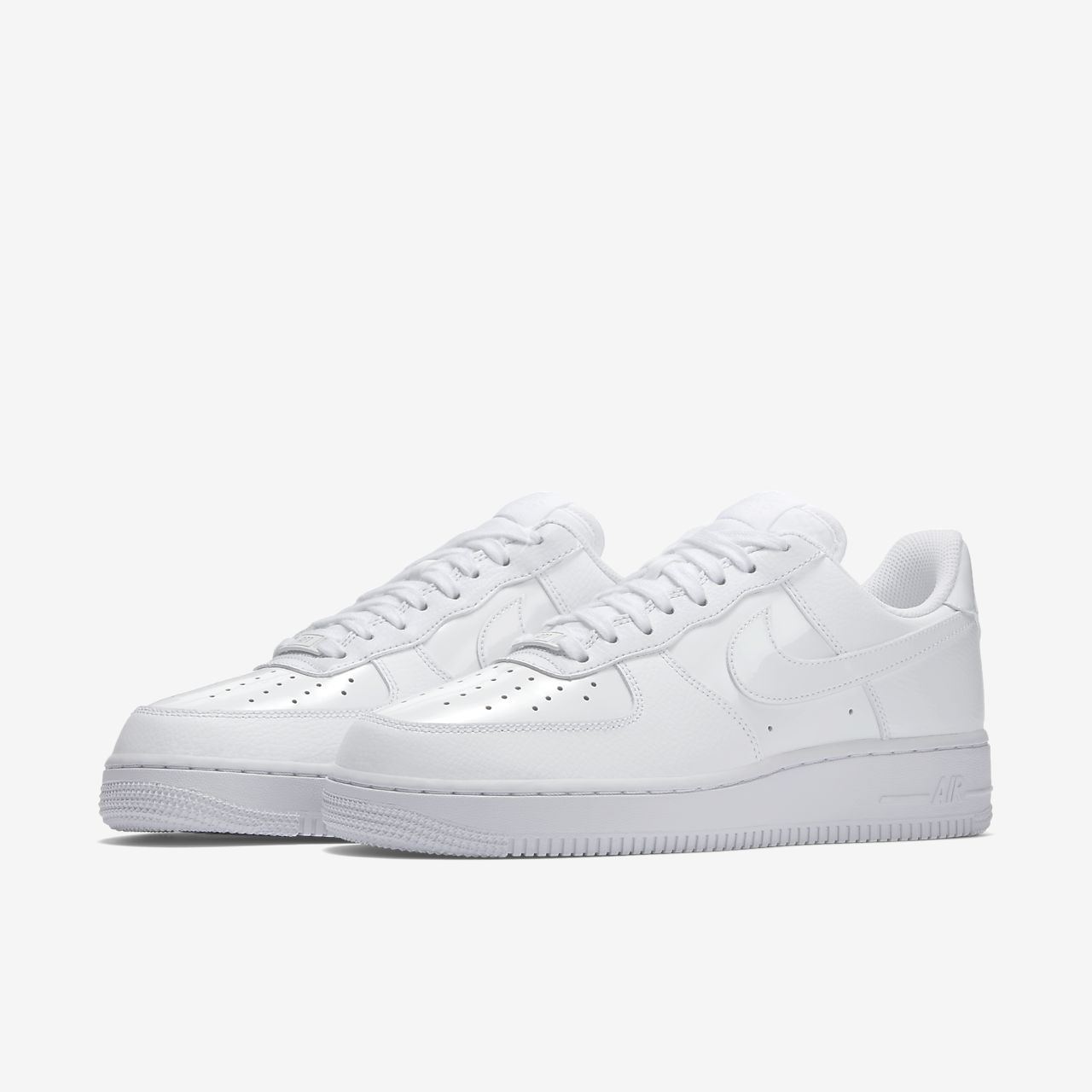 nike air force 1 '07 sneakers in white patent