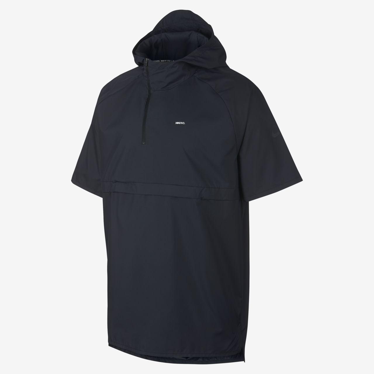 Pánská fotbalová bunda s krátkými rukávy a kapucí Nike F.C.