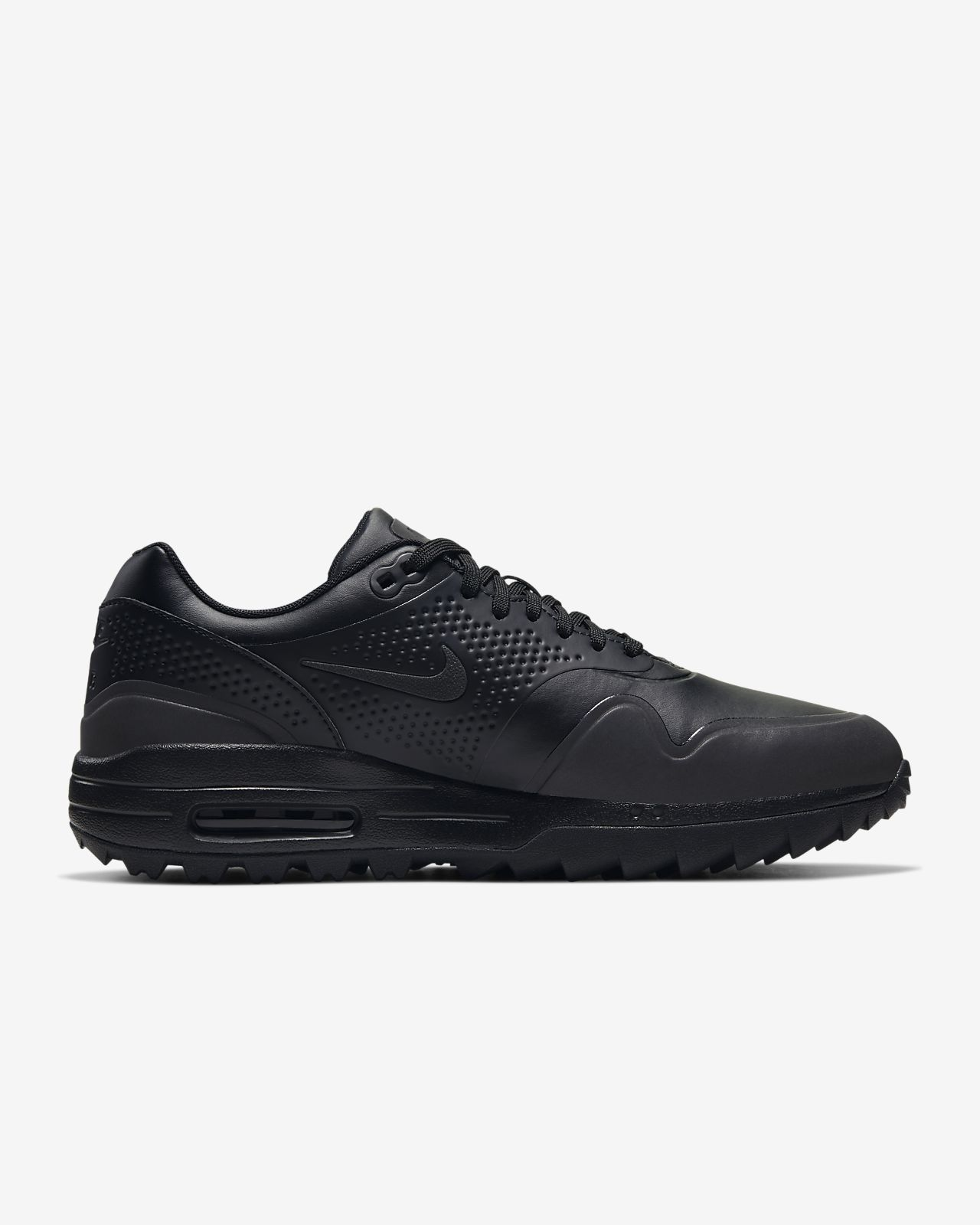 NIKE AIR MAX 1 G GOLF SHOES 2019 BLACKWHITEGUM CONTRAST SWOOSH