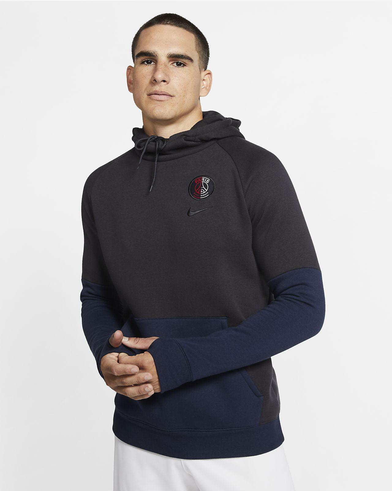 Felpa pullover in fleece con cappuccio Paris Saint-Germain - Uomo