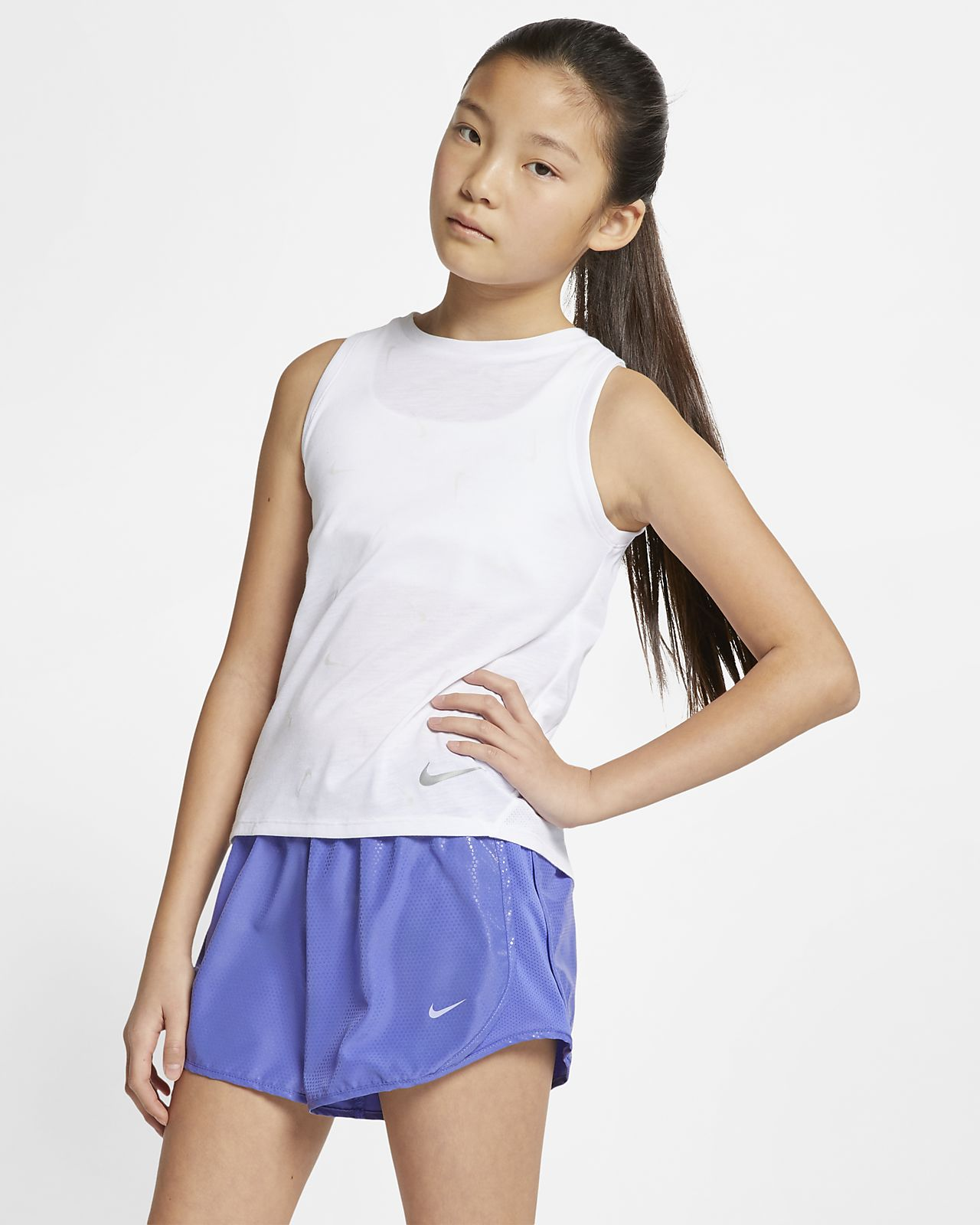 Nike Older Kids' (Girls') Printed Running Tank