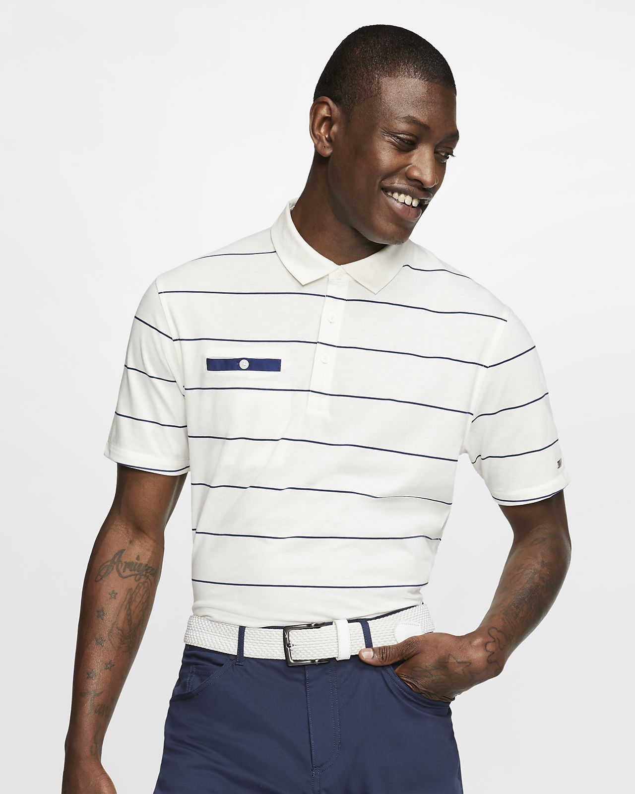 Nike Dri-FIT Player Polo de golf a ratlles - Home