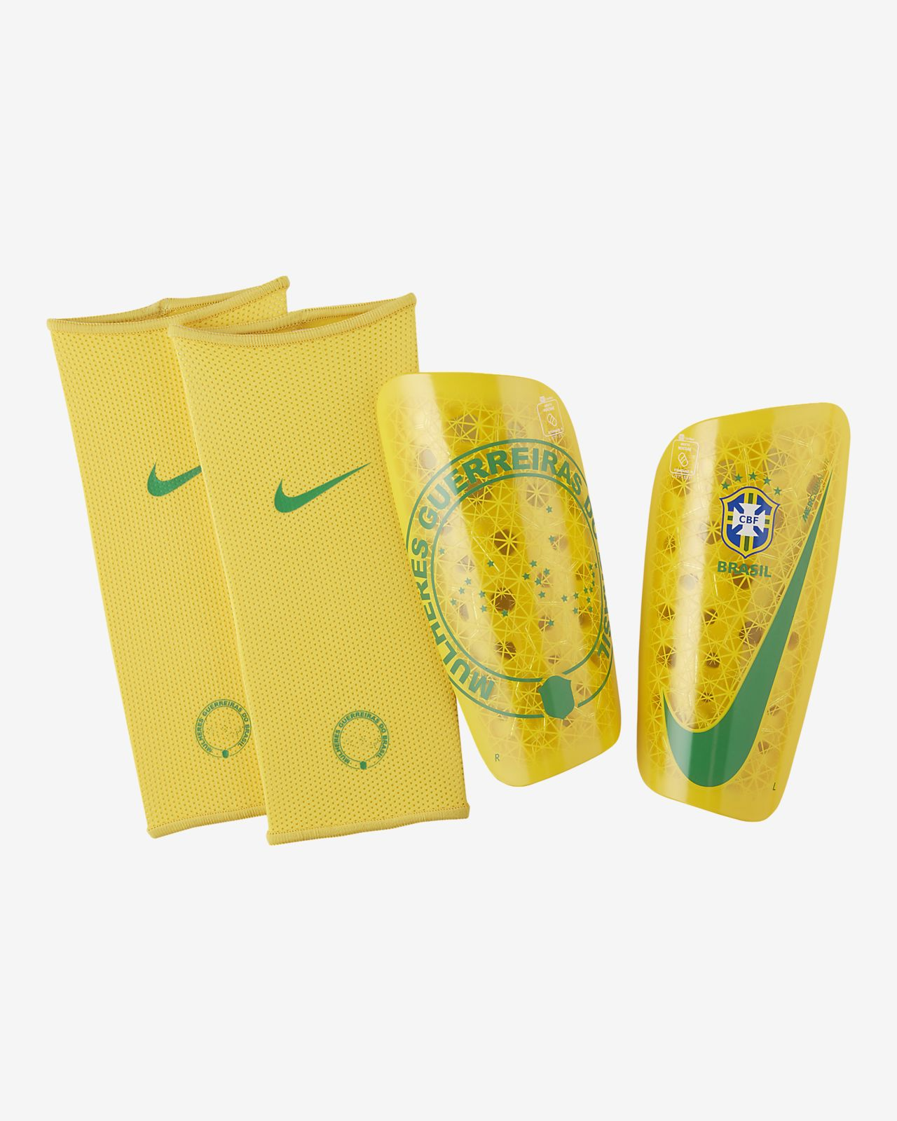 Protège-tibias de football Brasil Mercurial Lite