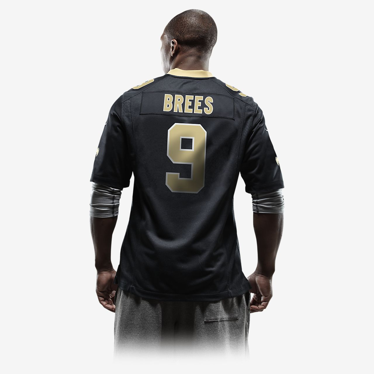 97b798b8857 ... NFL New Orleans Saints (Drew Brees) Men's American Football Home Game  Jersey