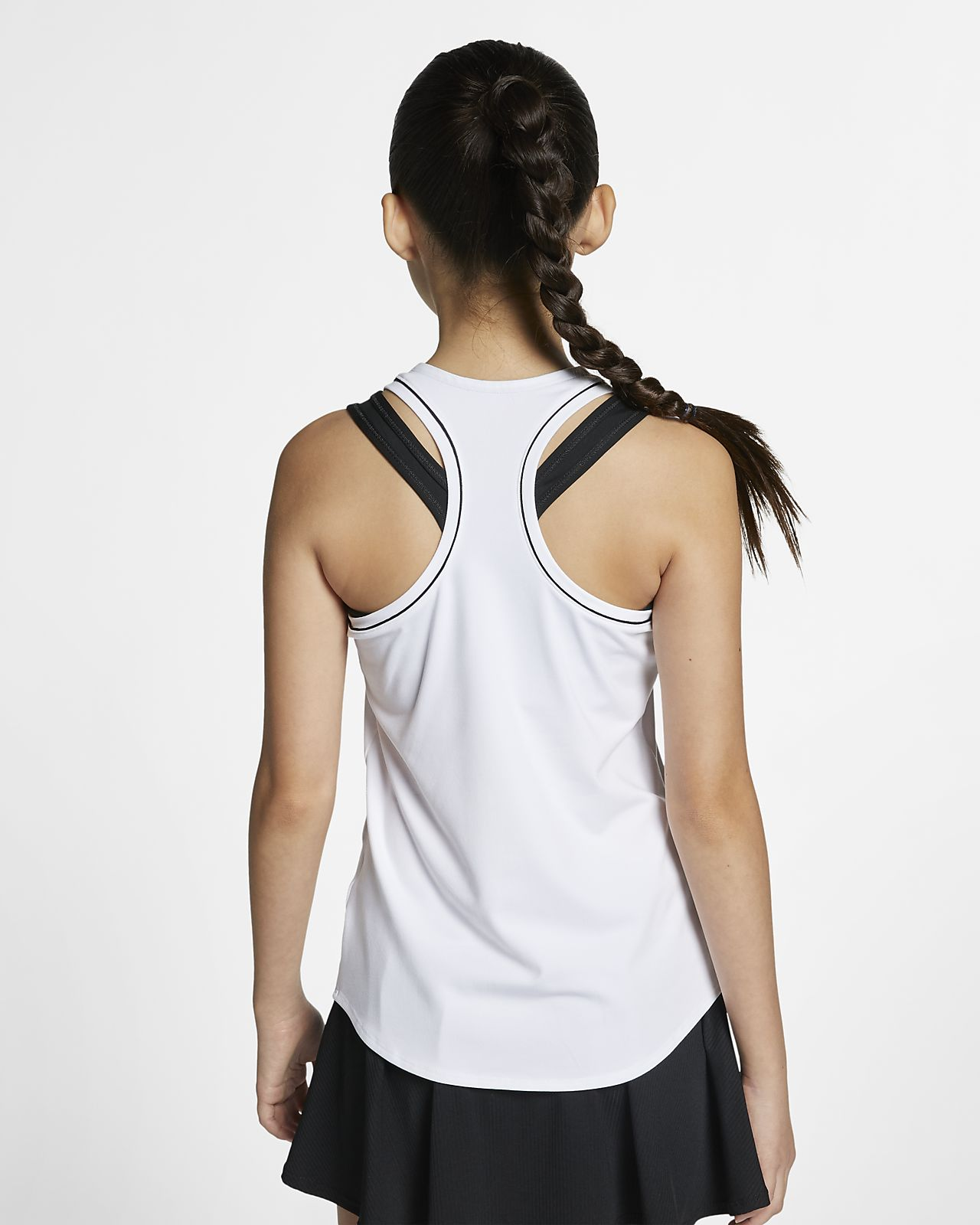 Canotta da tennis NikeCourt Dri FIT Ragazza