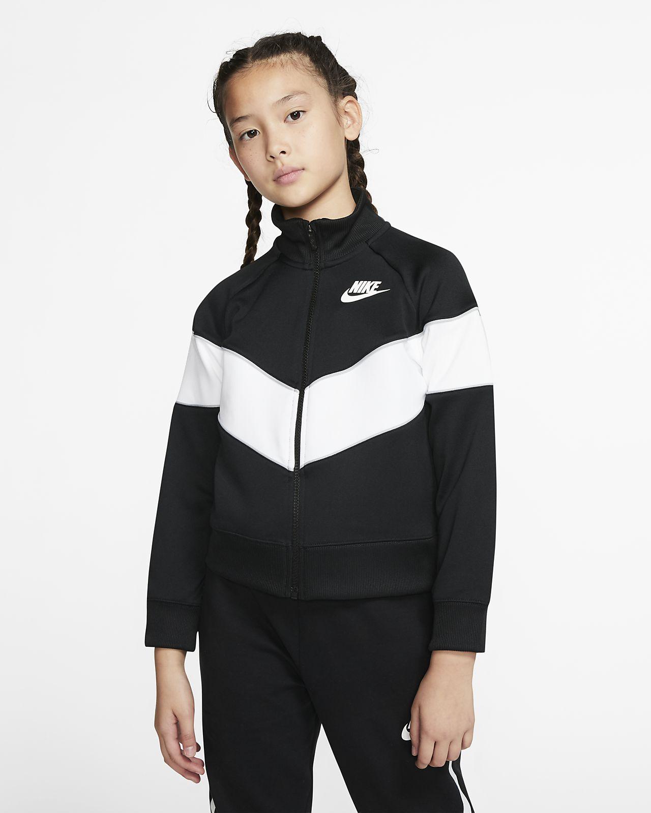 Τζάκετ με φερμουάρ σε όλο το μήκος Nike Sportswear Heritage για μεγάλα κορίτσια