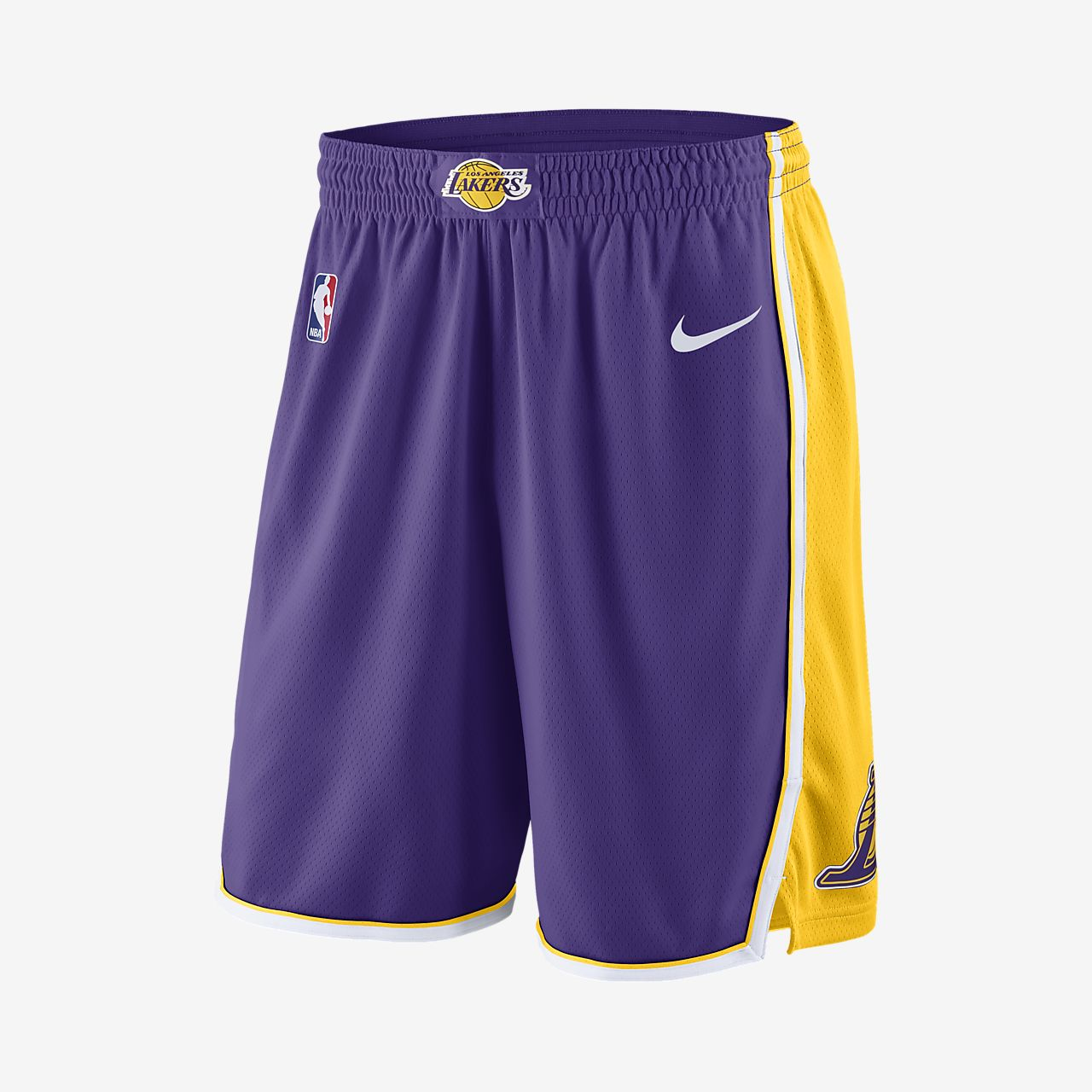 Los Angeles Lakers Nike Statement Edition Swingman Men s NBA Shorts ... 8e8de3809
