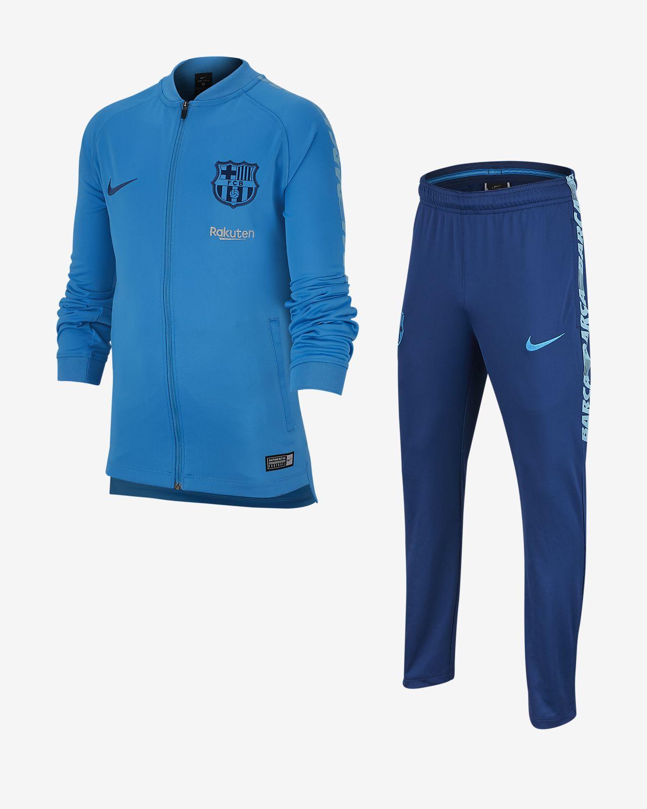 0f1b2d9c09a34 ... Conjunto de entrenamiento de fútbol para niños talla grande FC Barcelona  Dri-FIT Squad